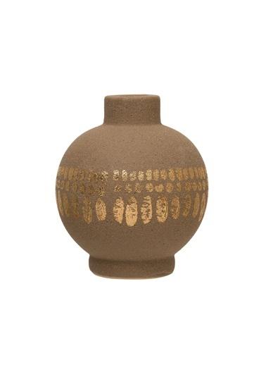 Warm Design Porselen Mumluk & Vazo Kahve